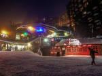 Avoriaz 070 - Snowy street at night