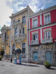 Asturias 17038 - Colourful Houses by HermitCrabStock
