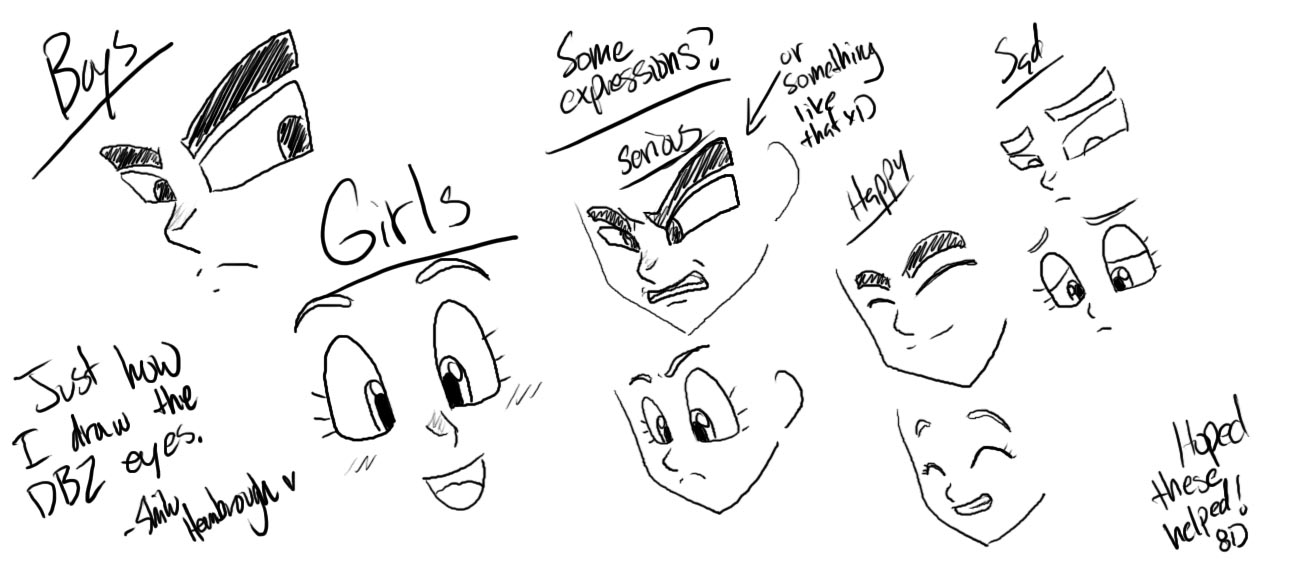 How i draw dragonball z eyes by la mishi mish