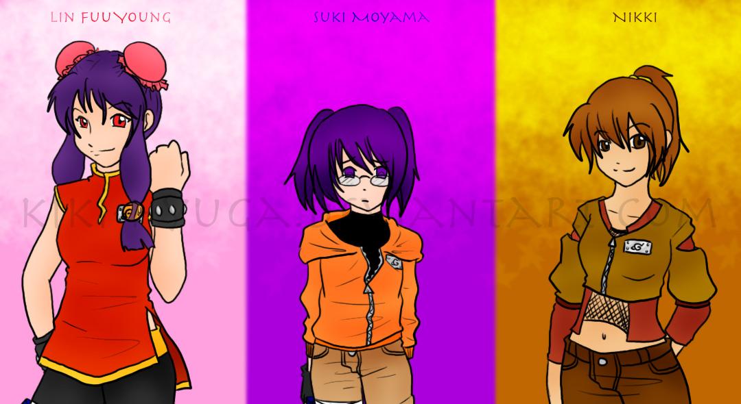 Naruto - Team Lin by Kiki-Hyuga