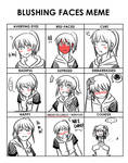 Blushing Faces Meme - Kiki Hyuuga