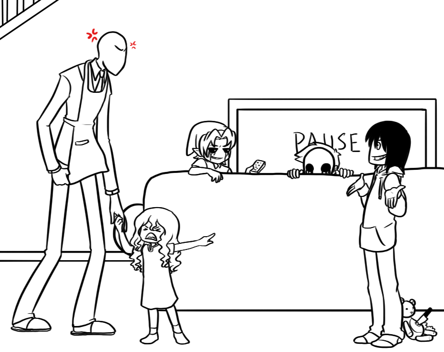 creepypasta coloring pages online - photo#16