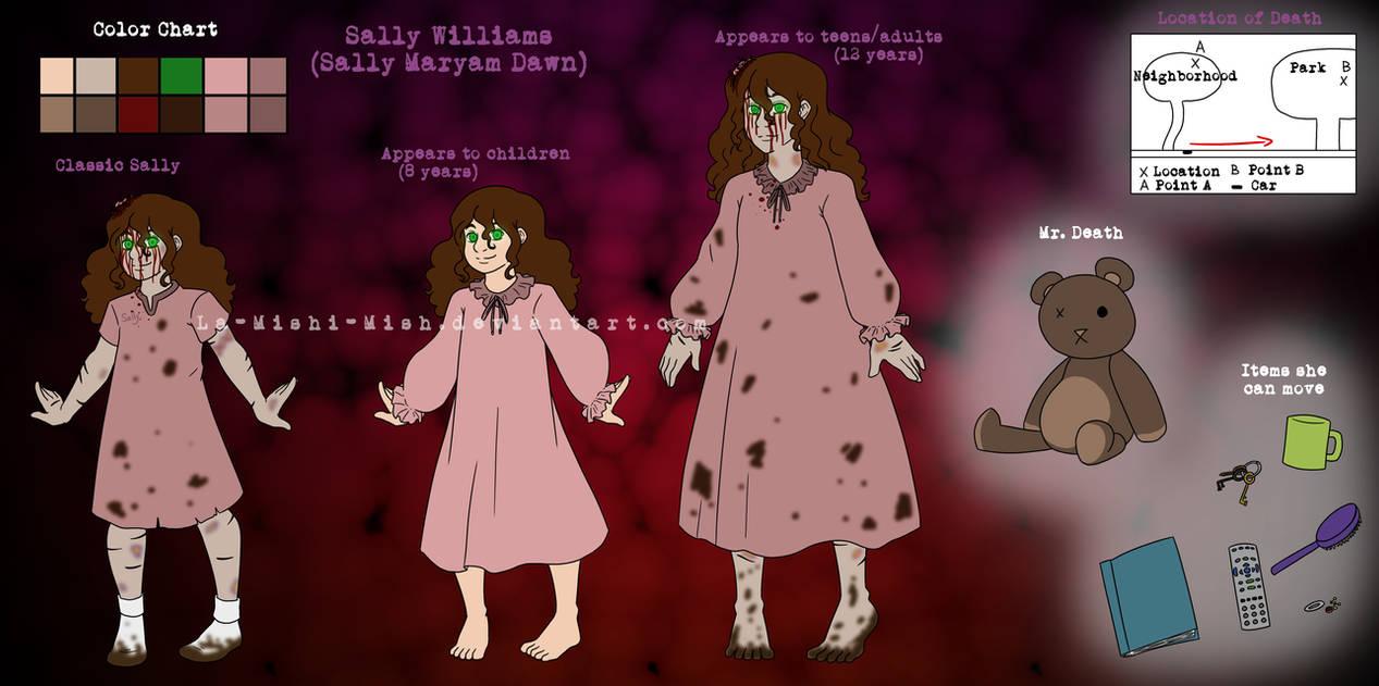 Sally Williams Creepypasta Sheet 2017(FINAL DRAFT) by La-Mishi-Mish