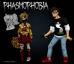 Phasmophobia Contest Entry - Ghost and Survivor