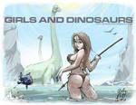 GIRLS AND DINOSAURS Fishing With Brachiosaurus