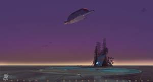 Arthur C Clarke Sunset by WalterPQ