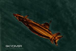 Skydiver UFO TV SERIES sketch by WalterPQ