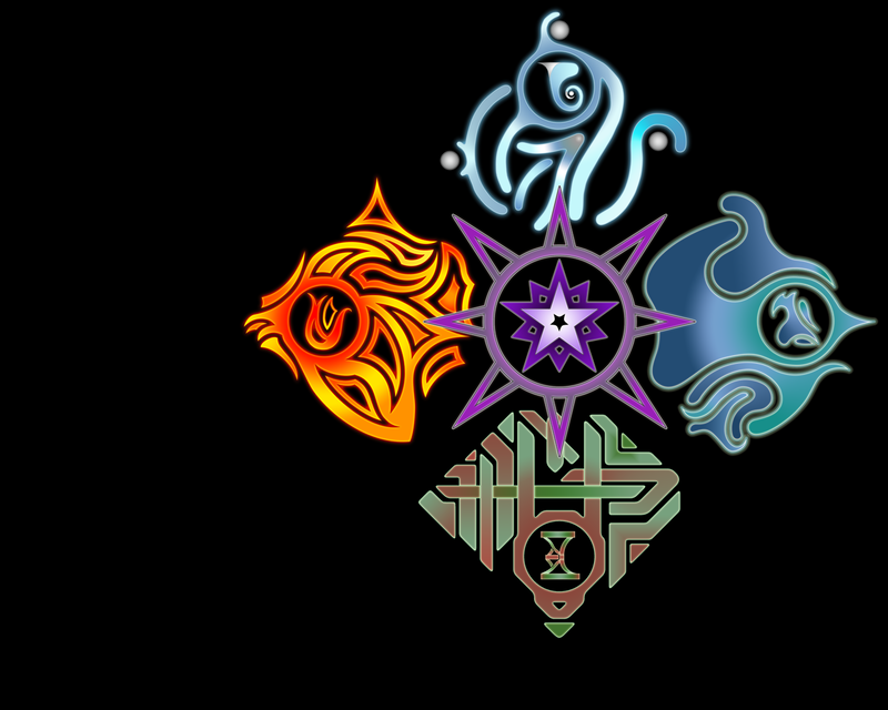 Five Elements Art : The five elements framed by nd r on deviantart