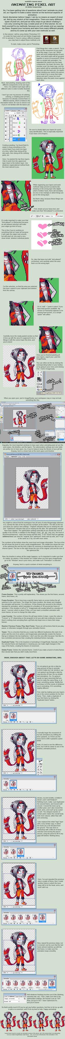 Pixel art tutorial: Animation by medli20