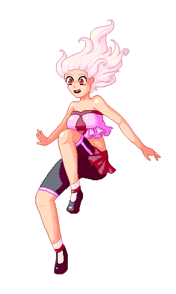 Pixel girl colouring practice by Totallymad8