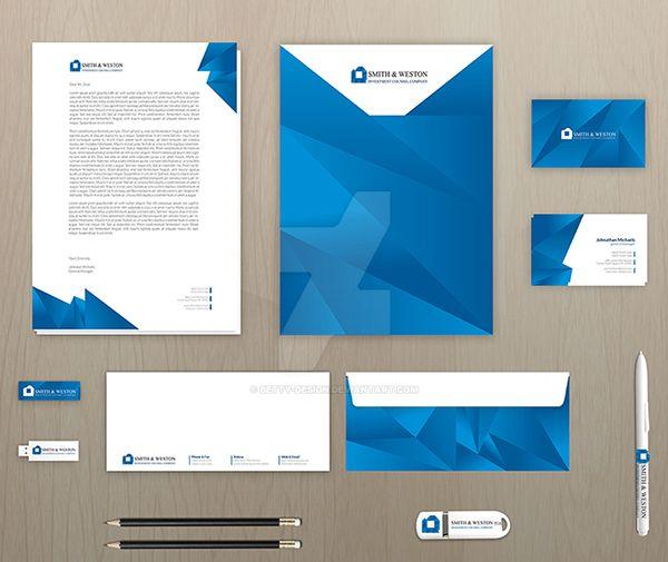 Corporate Stationery: Blue Corporate Stationery Pack By Betty-Design On DeviantArt