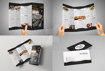 Tri-Fold Restaurant Menu and Business Card