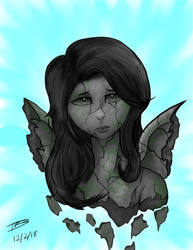 Stone Angel - Draw This in Your Style challenge by DarkBrushBrony