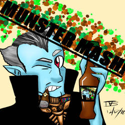 Munster Mash Beer Label by DarkBrushBrony