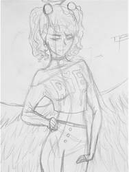 Raven Grey (WIP) art trade with Dakotasupernova by DarkBrushBrony