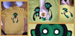 Maglia gialla-scimmiazombie by Bluoltremare