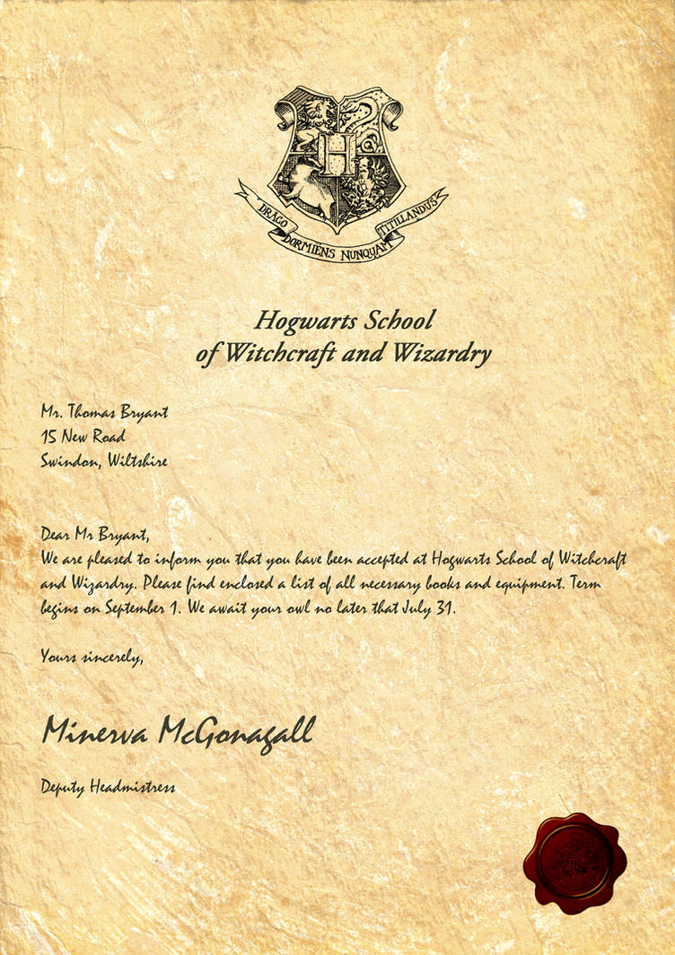 Harry Potter fans can now buy a personalized Hogwarts acceptance ...