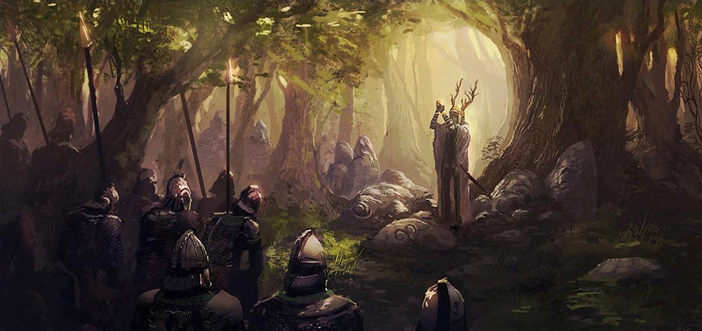 Duelscreen - Sacred forest by Kurobot