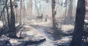 Frozen Forest by Kurobot