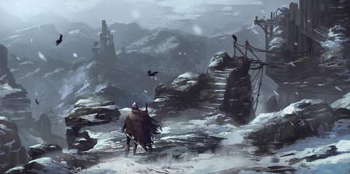 Frozen Mountains by Kurobot