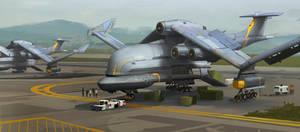 Cargo Aircraft by Kurobot