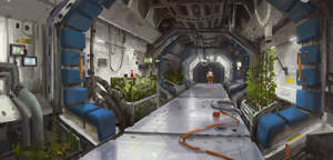 Mars station corridor 01