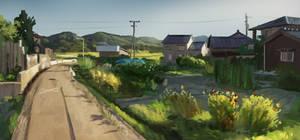 Japan Countryside study by Kurobot