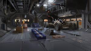 Mars Station Maintenance Room by Kurobot