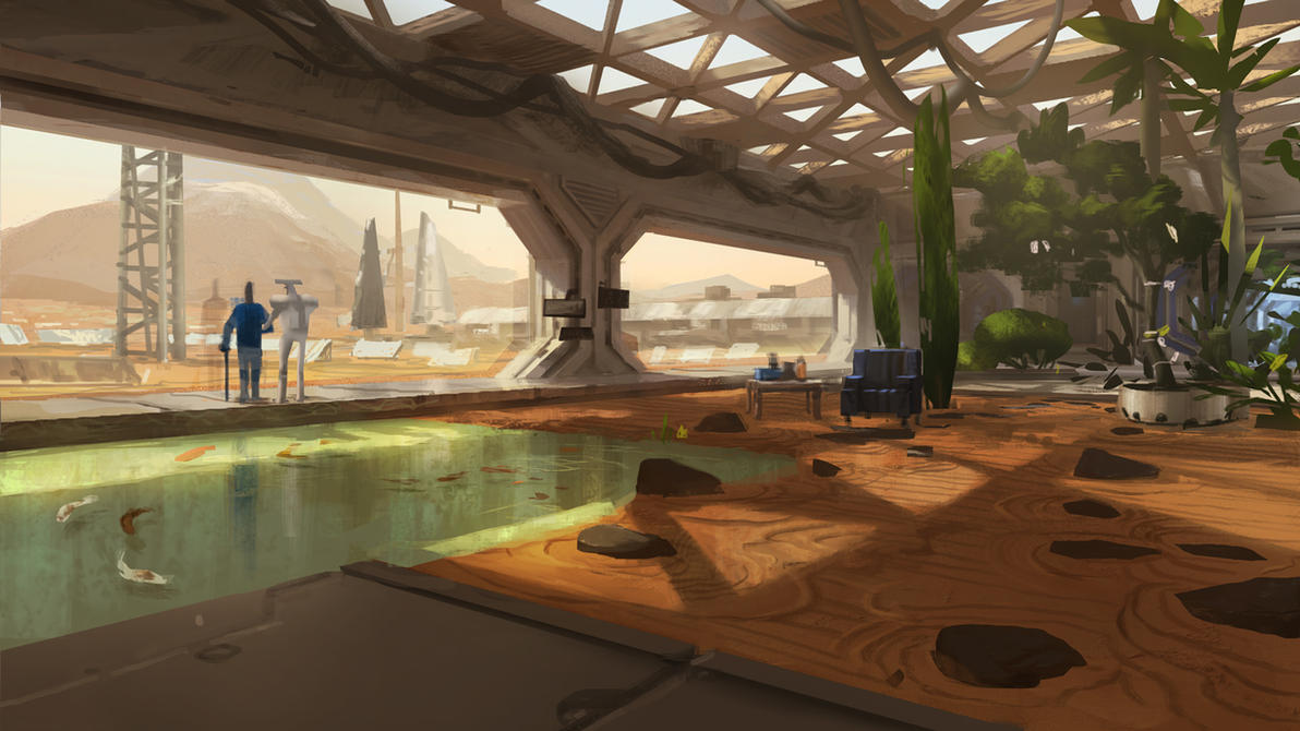 Mars Station Zen Garden by Kurobot on DeviantArt