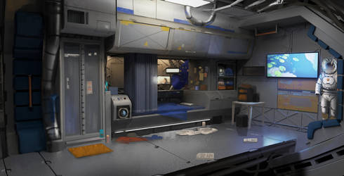 Mars Station - Cabin by Kurobot