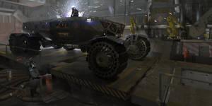 Heavy Martian Rover - Hangar