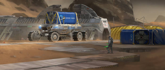 Heavy Martian Rover - Containers