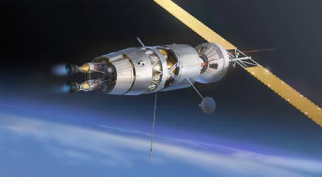 Nuclear Engine Spaceship - Mars Express by Kurobot