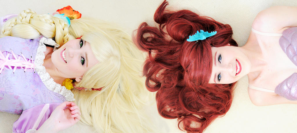 Rapunzel and Ariel by iDisneyx