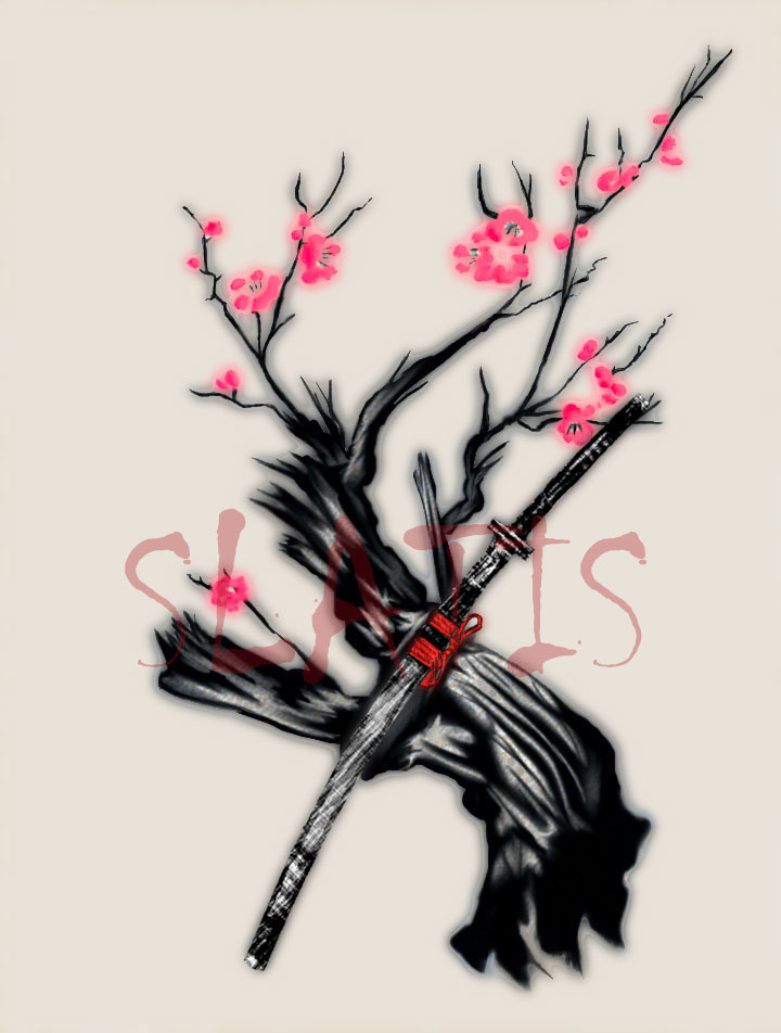 Visitando a algunos Fantasmas Sakura_and_Katana_by_Slatis