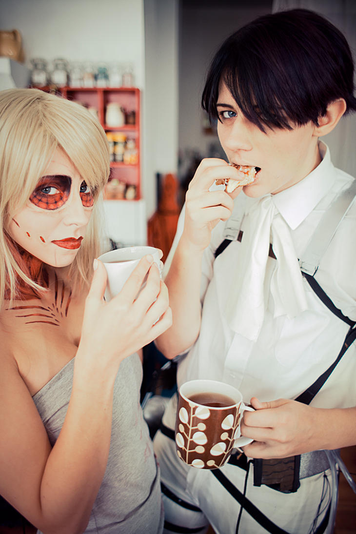 Attack on TEA-tan-TIME //backstage by theonlyVU
