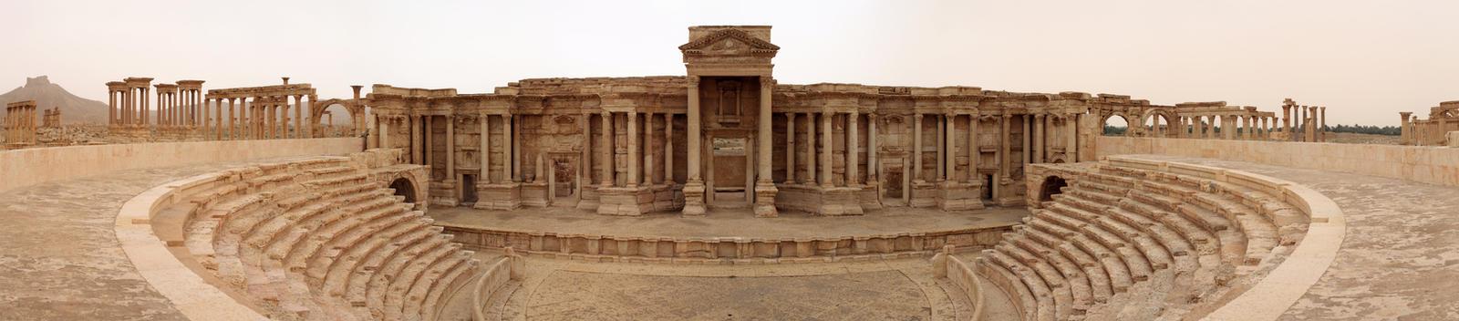 Palmyra theatre by Eusebius-fr
