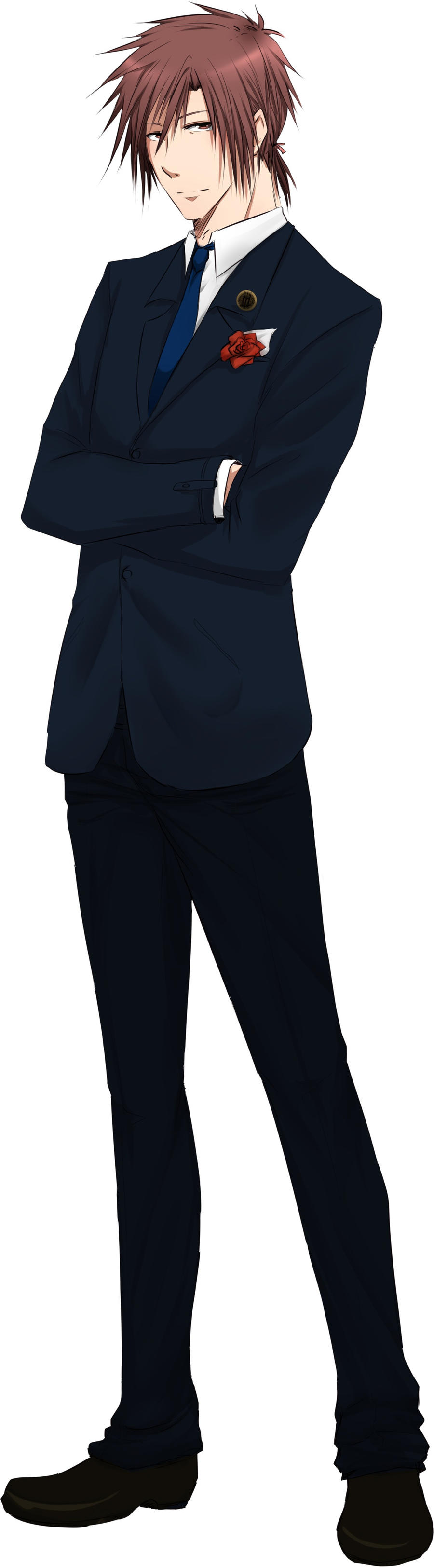 Anime boy in suit
