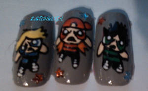Rowdyruff Boys Nails by SoCUTEicleNails