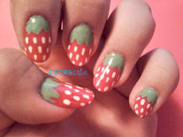 Strawberry Nails by SoCUTEicleNails