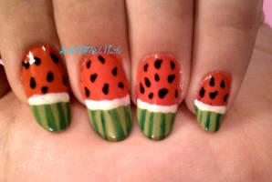 Watermelon Nails by SoCUTEicleNails