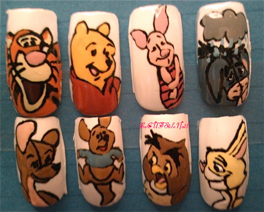 Winnie The Pooh Nails By Socuteiclenails On Deviantart
