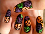 Jack O Lantern Sprinkles Nails