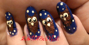 Owl Halloween Nails