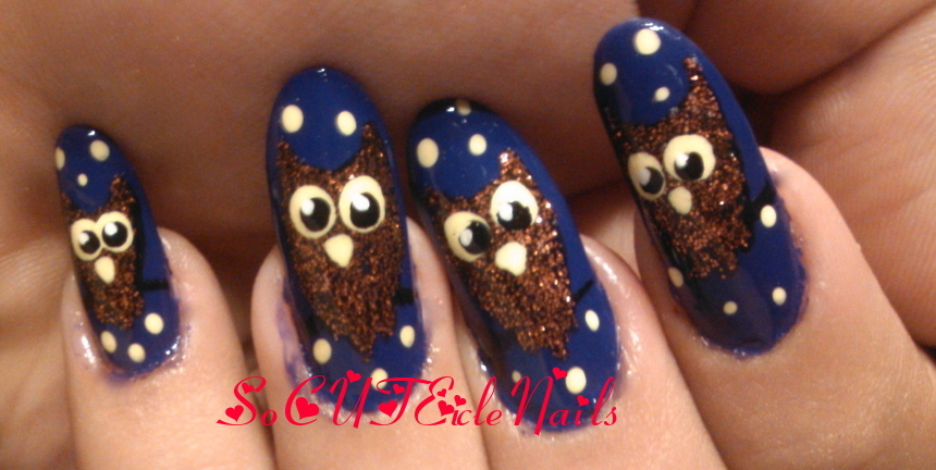 Owl Halloween Nails By Socuteiclenails On Deviantart