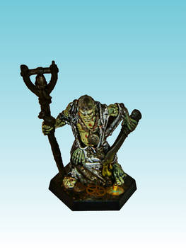 Nurgle Champion with bellstaff and sword