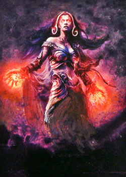 MTG Liliana Vess [paint over] by Nergling