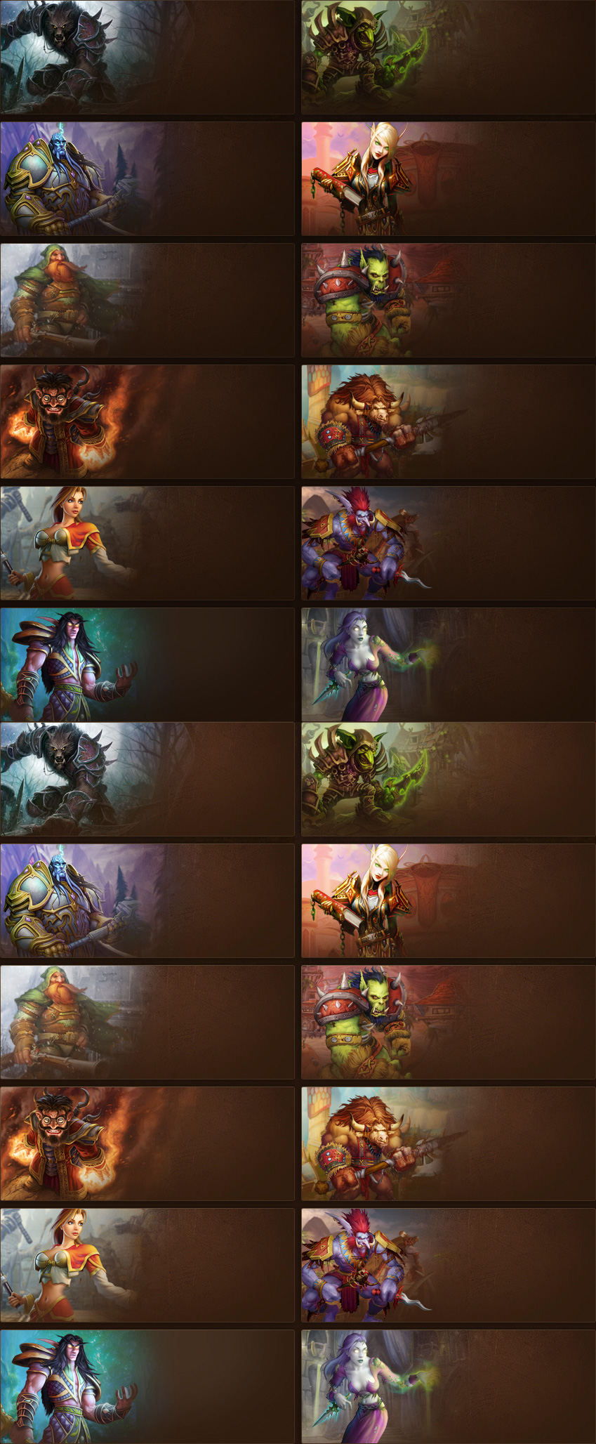 WoW Races Cards by ADDOriN on DeviantArt