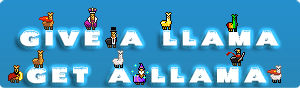 Give  a llama and  Get a llama by ADDOriN