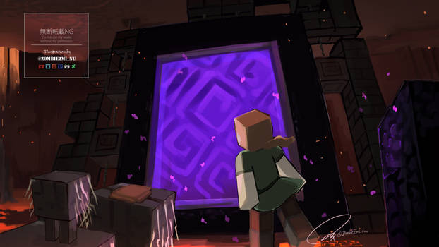Travel memoirs of The New Nether :Nether portal?